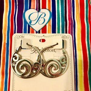 Silver Brighton earrings